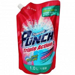 """Глубокоочищ жидкое средство для стирки """"Speed Punch Triple Action"""" быстр действия «Ударная сила» 1 л"""