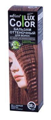 Белита СПАСАТЕЛЬ ЦВЕТА-COLOR LUX Бальзам для волос тон 08.1 теплый каштан оттеночный 100 мл 0,13 кг