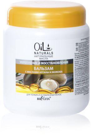 Белита OIL NATURALS Бальзам для тонких и ослабленных волос с маслами АРГАНЫ и ЖОЖОБА Укрепление и Во