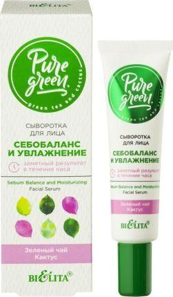 """Белита Pure Green Сыворотка для лица """"Себобаланс и увлажнение"""" 30 мл"""