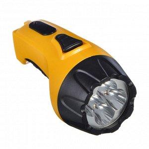 ЧИНГИСХАН Фонарь аккумуляторный 4 ярк. LED, вилка 220В, пластик, 13x5,3 см