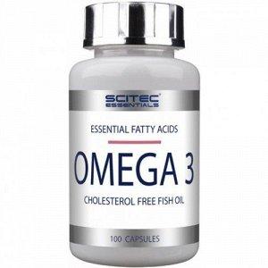 Омега 3 (Рыбий жир) SCITEC ESSENTIALS - 100 капсул