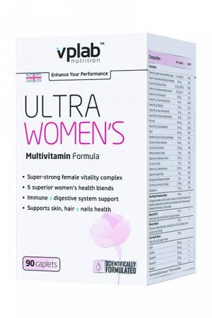 Мультивитамины VPLab Ultra Women's Multivitamin Formula - 90 таблеток