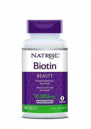 Биотин Natrol Biotin 10.000 мкг - 100 таб.