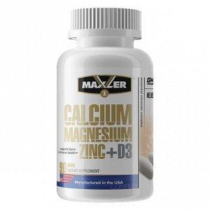Минералы MAXLER Calcium Magnesium Zinc + D3 - 90 таблеток