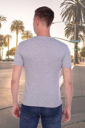 Футболка Состав: 100% хлопок, ткань: рибана . Мужская футболка из кулирки. Короткие рукава, круглая горловина, украшена печатью, прямой силуэт.