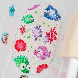 Коврик для ванны Доляна «Рыбка-шар», 39?69 см