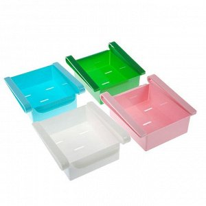 Полка подвесная в холодильник, 16,5х16х8 см, цвет МИКС
