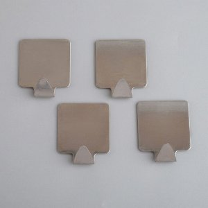 Набор крючков на липучке Доляна «Квадрат», 4 шт, металлические