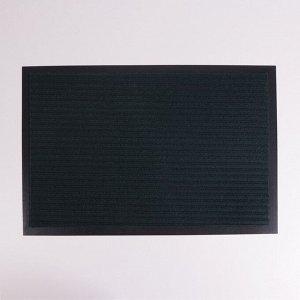 Коврик придверный влаговпитывающий, ребристый, «Стандарт», 40?60 см, цвет зелёный