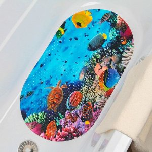 Коврик для ванны Доляна «Морское дно», 38?68 см