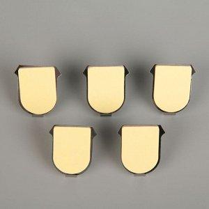 Набор крючков на липучке Доляна «Якорь», 5 шт, металлические