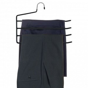Вешалка для брюк антискользящая, 4-х уровневая, цвет МИКС