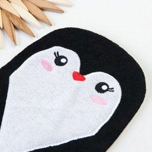 """Игрушка-мочалка для купания """"Пингвинчик"""" из махры"""