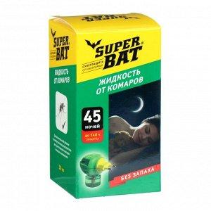 """Дополнительный флакон-жидкость от комаров """"SuperBAT """", без запаха, 45 ночей, 30 мл"""