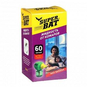 """Дополнительный флакон-жидкость от комаров """"SuperBAT"""", 60 ночей, флакон, 45 мл"""