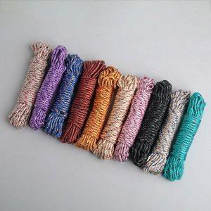 Верёвка бельевая Доляна, d=4 мм, длина 10 м, цвет МИКС