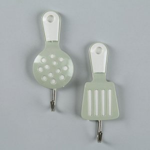 Набор крючков на липучке «Кухня», 2 шт, цвет МИКС