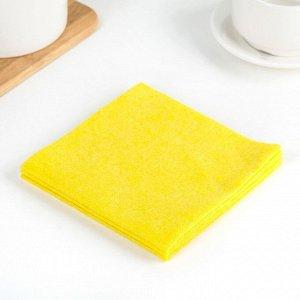 Набор салфеток для уборки 30?30 см, вискоза, 3 шт, цвет МИКС