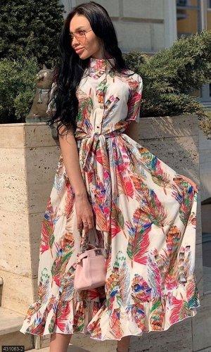 Платье 431063-2 бежевый Весна Украина