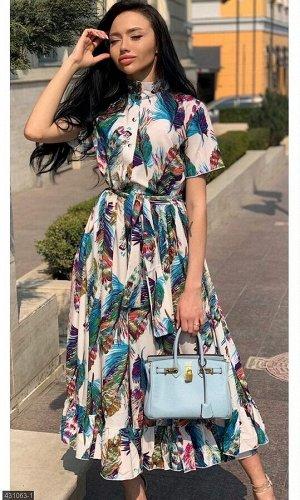 Платье 431063-1 белый Весна Украина