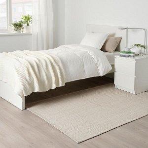 ТИПХЕДЕ Ковер безворсовый, неокрашенный, белый с оттенком, 120x180 см