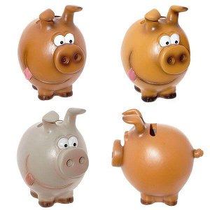 "Копилка ""Свинка"", L10,5 W8 H10,5см, 3в"