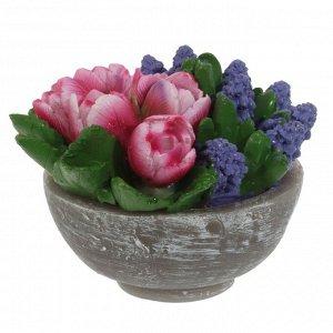 "Свеча ""Цветы"", L10 W10 H8,5 см"
