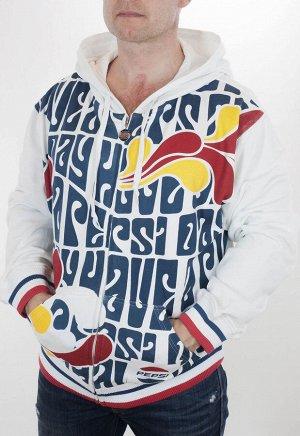Модная куртка-толстовка Pepsi Cola.  Фирменные цвета, узнаваемый логотип, уютный капюшон, удобные карманы. Стильный мужской дизайн и защита от холода по ЧЕСТНОЙ цене №591