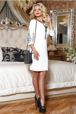 Белое платье на 44 размер. Отдам дешевле!