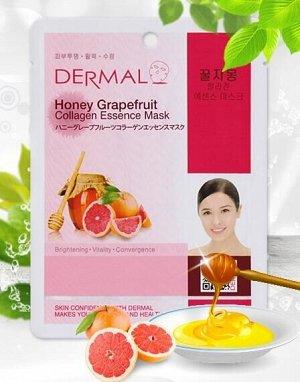 Коллагеновая маска Dermal Honey Grapefruit Collagen Essence Mask (Пр-во Корея)