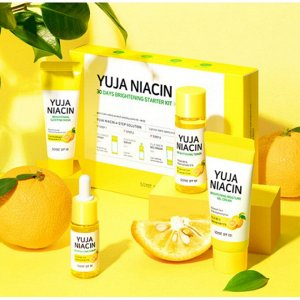 Набор SOME BY MI Yuja Niacin 30 Days Brightening Starter Kit    (toner 30ml + serum 10ml + gel cream 30ml + sleeping mask 20g)