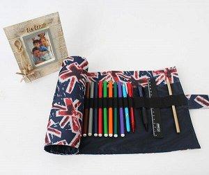 Пенал корпусный для письменных принадлежностей Pencil Case Tuba Флаг