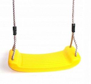 Подвесные детские качели Желтые