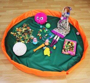 Сумка-коврик для игрушек Toy Bag диаметр 100 см цв. зелено-оранжевый