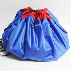 Сумка-коврик для игрушек Toy Bag диаметр 100 см цв. сине-красный