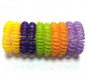 Резинка-пружинка для волос набор №234 10 шт.