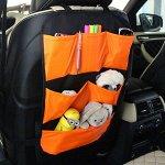 Защита для спинки сиденья + Органайзер для автомобиля, 6 карманов, Оранжевый