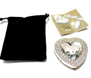 Держатель-крючок для сумок Heart (Сердце) (серебристый)