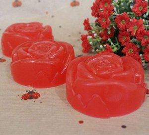 """Натуральное мыло ручной работы Sakura """"Красная роза"""" с парфюмерным ароматом Escentric Molecules"""