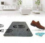 Супервпитывающий придверный коврик New Clean Step Mat (Клин Степ Мат) Серый