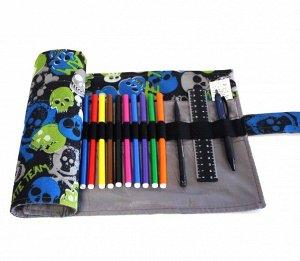 Пенал корпусный для письменных принадлежностей Pencil Case Tuba Черепа