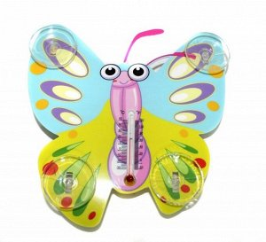 Термометр оконный на присосках Бабочка Желтая