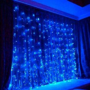 Светодиодная LED гирлянда Занавес 2*2 м. Синее свечение