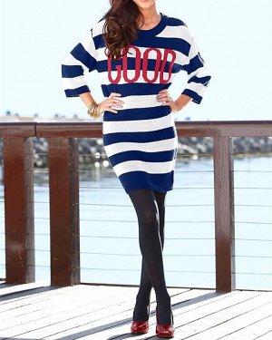 Платье, охра-синее