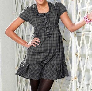 Платье, черно-серое