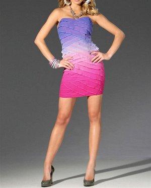 Платье, розово-лиловое