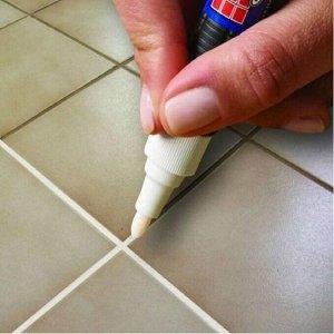 Маркер для закрашивания черной плесени на швах в ванной комнате, кухне, туалете 8 г