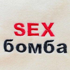 """Шапка для бани """"SEX бомба"""""""