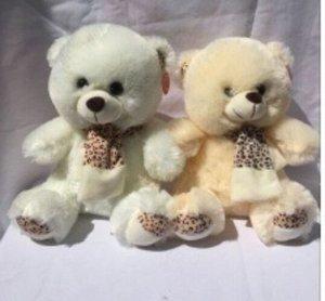 Мягкая игрушка Медведь с леопардовым шарфом, 25см, цвет в ассорт.